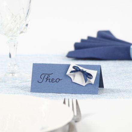Tischkarte mit Windel für die Tauffeier