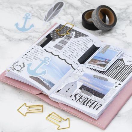 Reiseerinnerungen, festgehalten in Bullet Journal oder Kalender