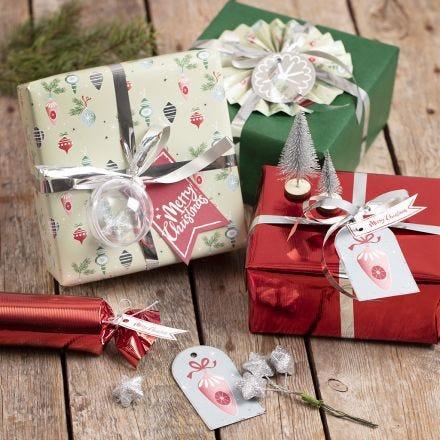 Geschenkverpackung mit besonderer Weihnachtsdeko
