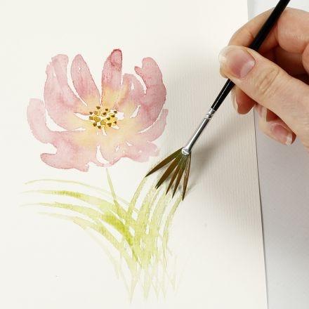 Wie man Aquarelle mit leichten Pinselstrichen malt