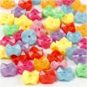 Plastikperlen, D: 9,5 mm, Lochgröße 1,5 mm, Sortierte Farben, 125 ml/ 1 Pck, 75 g