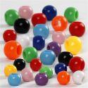 Pony-Perlen, Größe 6-10 mm, Lochgröße 3-5 mm, 150 ml/ 1 Pck, 85 g