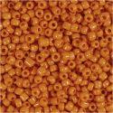 Rocaille Seed Beads, D: 3 mm, Größe 8/0 , Lochgröße 0,6-1,0 mm, Orange, 25 g/ 1 Pck