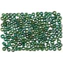 Rocaille Seed Beads, D: 3 mm, Größe 8/0 , Lochgröße 0,6-1,0 mm, Grün irisierend, 500 g/ 1 Pck