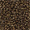 Rocaille Seed Beads, D: 3 mm, Größe 8/0 , Lochgröße 0,6-1,0 mm, Bronze, 25 g/ 1 Pck