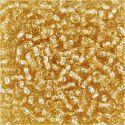 Rocaille Seed Beads, D: 3 mm, Größe 8/0 , Lochgröße 0,6-1,0 mm, Gold, 25 g/ 1 Pck