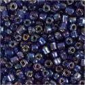 Rocaille Seed Beads, D: 4 mm, Größe 6/0 , Lochgröße 0,9-1,2 mm, Blau irisierend, 25 g/ 1 Pck