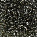 Rocaille Seed Beads, D: 4 mm, Größe 6/0 , Lochgröße 0,9-1,2 mm, Grau transparent, 25 g/ 1 Pck