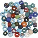 Glasperlen-Mix, D: 9 mm, Lochgröße 2,5-3 mm, Sortierte Farben, 500 g/ 1 Pck
