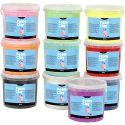 Foam Clay® , Glitter, Sortierte Farben, 10x560 g/ 1 Pck.