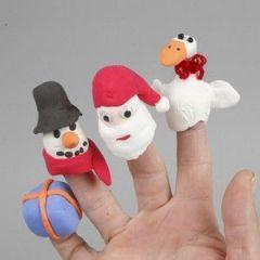 Silk Clay Fingerpuppen
