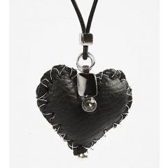 Herzanhänger aus Leder