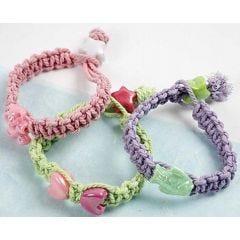 Macramé Pastell-Armbänder
