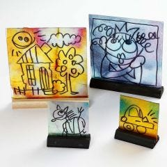 Glasbilder mit Aquarellfarben