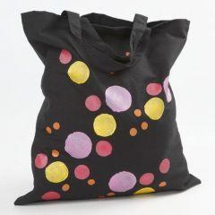 Stofftasche, bemalt mit Metallic-Farben
