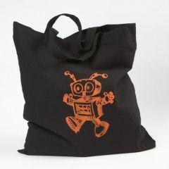 Eine Tasche mit Siebdruck