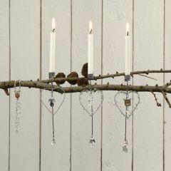Ein modischer Weihnachtsbaumkerzenhalter