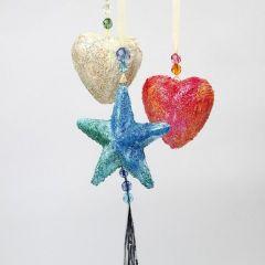 Sterne und Herzen aus Styropor