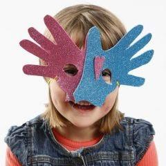 Moosgummi-Maske aus Hand-Umrissen