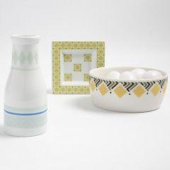 Motiv-Klebeband auf Porzellan und Hartfolie