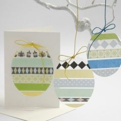 Eier aus Hartfolie mit Motiv-Klebeband