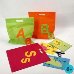 Mehrzweck-Taschen mit Filzbuchstaben