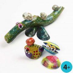 A-Color Glasfarbe auf Naturmaterialien