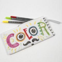 Mäppchen, verziert mit Textil-Markern