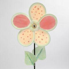 Bllumen-Windmühle aus verzierten Nylon-Blüten