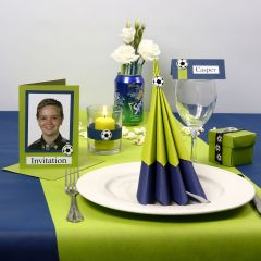 Inspirationen für eine Party in Limettengrün und Blau