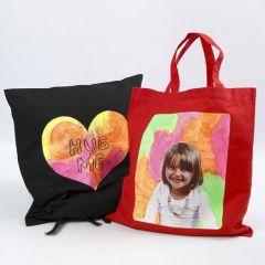 Kissen und Einkaufstasche mit Transfer-Druck