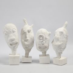 Portrait-Skulpturen aus Luftballons und Gipsbandagen