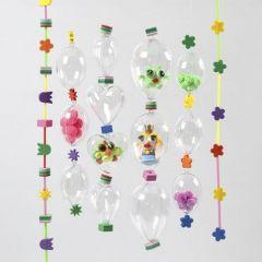 Angelschnur verziert mit Schaumgummi und dekorierten Acrylkugeln