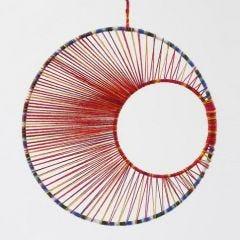 Schnur-Kunst - ein Mobile aus Metallringen und Schnüren