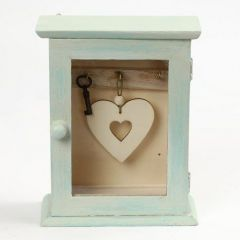Schlüsselkästchen aus Holz, bemalt mit Chalky Vintage Look Farbe