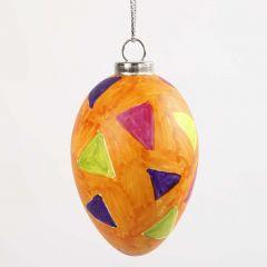 Ei mit Grafiken, gemacht mit Glas & Porzellan Markern