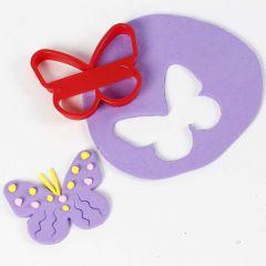 Schmetterling - ausgestanzt aus Silk Clay
