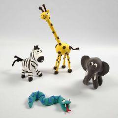 Mit Silk Clay kann man Skelette in WildeTiere verwandeln