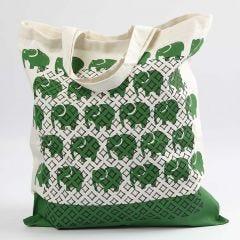 Einkaufsbeutel mit Stempel- und Schablonen-Muster