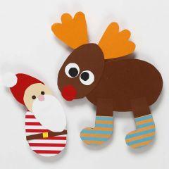 Weihnachts Dekoration aus flexibel einsetzbaren Schablonen