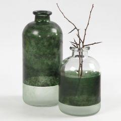 Apotheker-Flaschen, bemalt mit Glasfarbe
