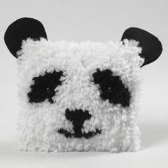 Aus Rya-Knoten gefertigtes Tierkissen