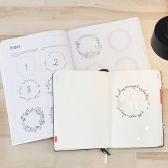 Bullet Journal, gestaltet mit Ideen aus einem Übungsheft