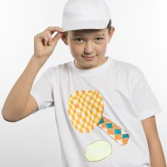 T-Shirt mit Sport-Motiv, übertragen mit Transfer-Papier