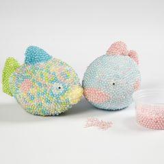 Styropor-Fische ummantelt mit Pearl Clay