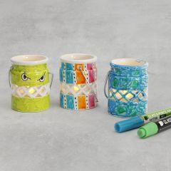 Laternen aus Porzellan, verziert mit Glas-/Porzellanmalstiften