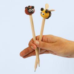 Silk Clay-Insekten als Bleistiftköpfchen