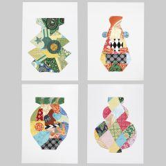 Symmetrie-Design mit Deko aus Büttenpapier