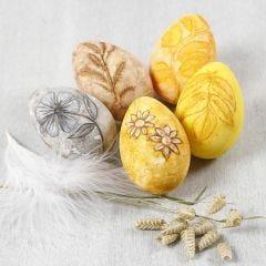 Aquarell-Blumen, auf lebensechte Eier selbst gemalt