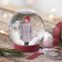 Schneekugel mit Foto